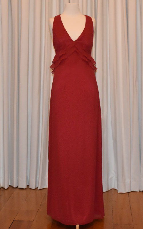 Red Chiffon Cocktail Dress - MG1419