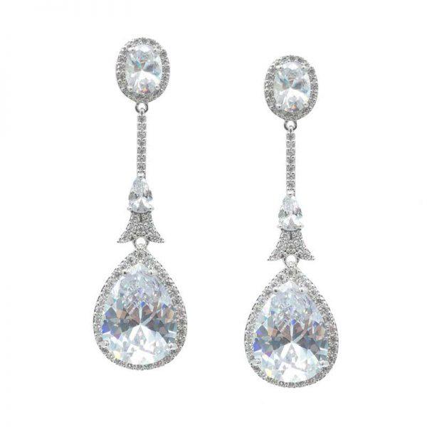 Silver Pendant Earrings - CHBAE0210