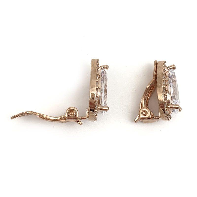rose gold clip on stud earrings