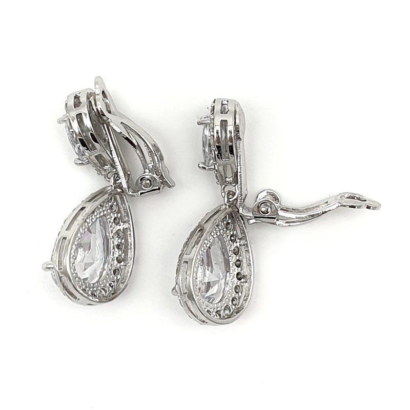 silver clip on earrings