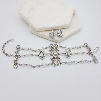 swarovski crystal stud and bracelet set