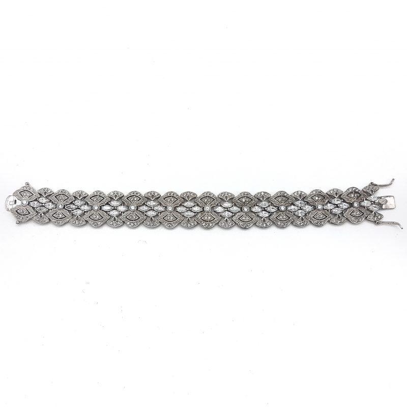 Silver Wedding Cuff Bracelet