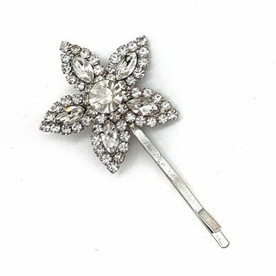 Silver Flower Hair Pin