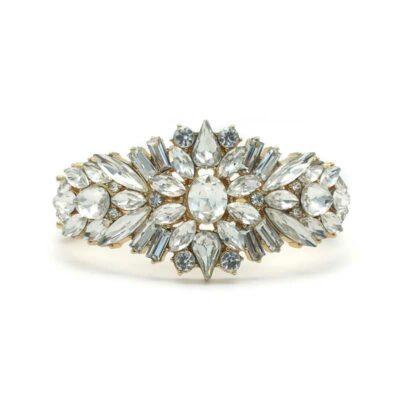 Gold Bridal Cuff - CHCB0366a