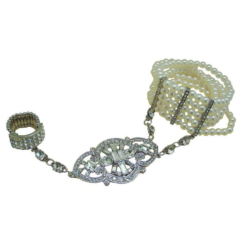 pearl great gatsby slave bracelet - chcb9728