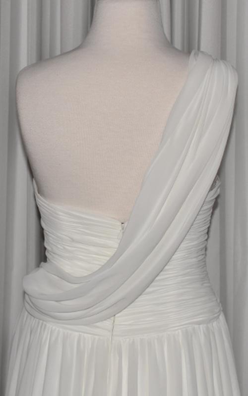 ivory chiffon gown