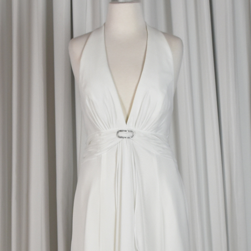Ivory halter bridal gown