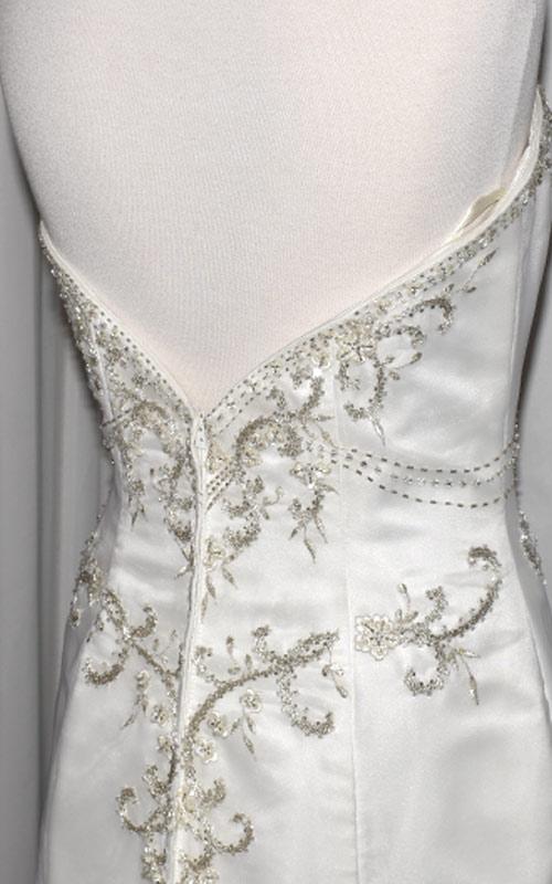 Ivory Beaded Bridal Gown - E9128 - Sz 10