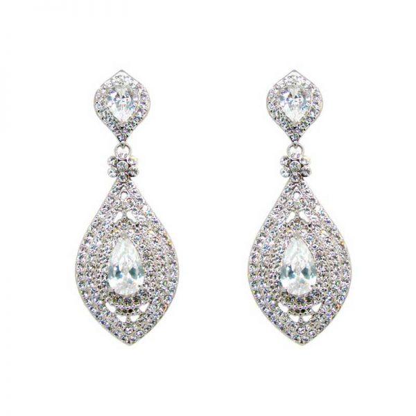 Silver teardrop earrings - CHFZE20338