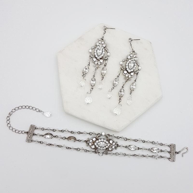 swarovski crystal bridal jewellery set