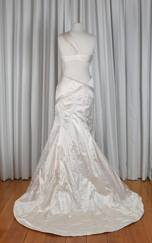 Pink Silk Single Strap Bridal Gown - GC1002 - Sz 12