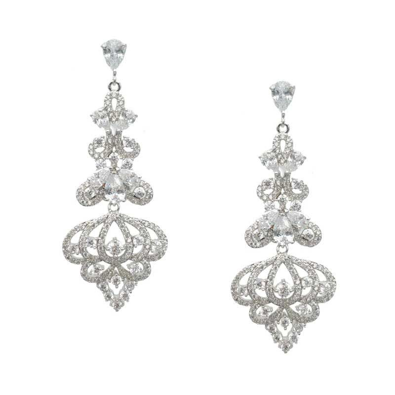 Chandelier Shaped Earrings (Silver/Gold/Rose Gold) - CHBAE0189