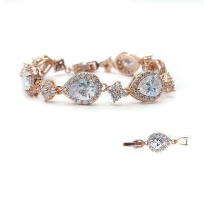 Rose Gold Cubic Zirconia Bracelet - CHCB031