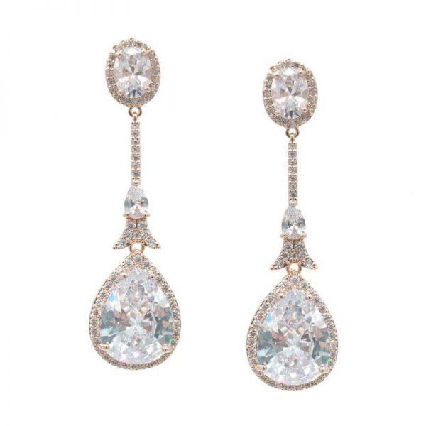 Rose Gold Pendant Earrings - CHBAE0210