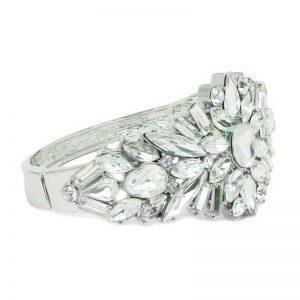 silver bridal cuff - CHCB0366