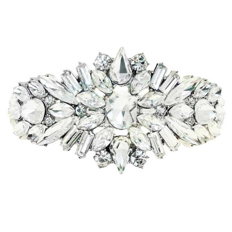 rhodium bridal cuff - CHCB0366