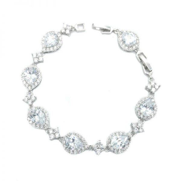 Silver Cubic Zirconia Bracelet - CHCB031