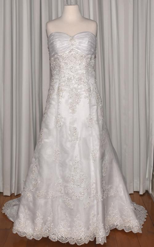 white organza bridal gown