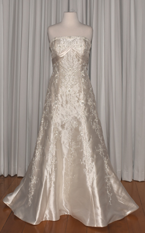 ivory beaded wedding gown