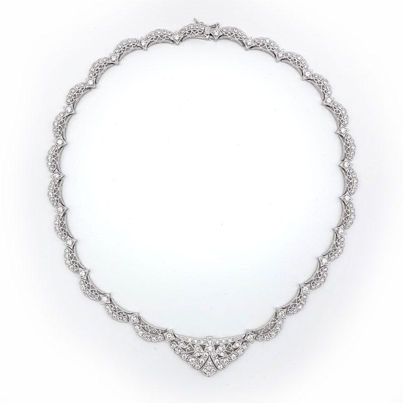 silver feminine collar collar