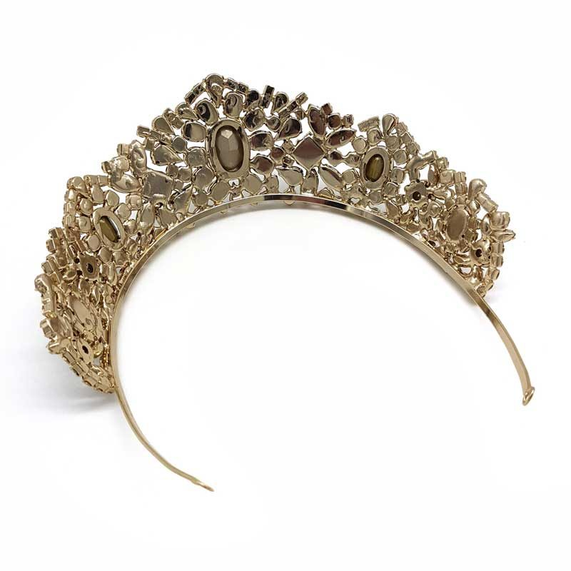 gold crystal bridal tiara