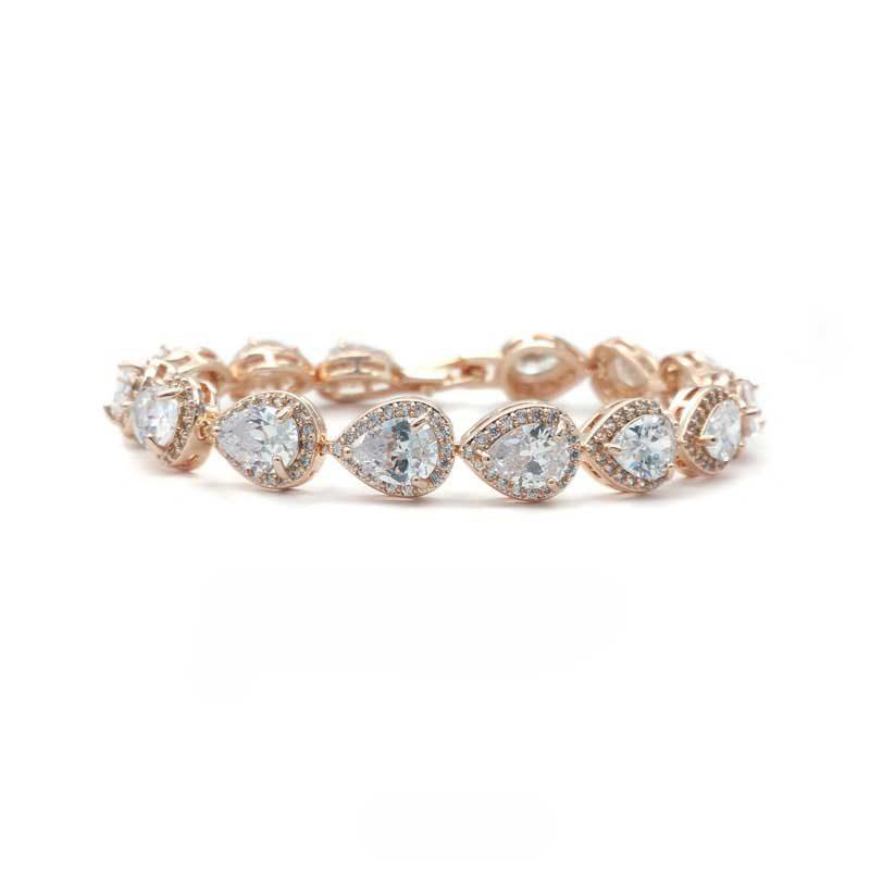 rose gold tear drop bracelet - CHMB0043 - Maddison