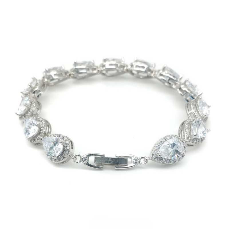 Silver tear drop bracelet - CHMB0043 - Maddison