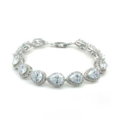 silver tear drop bracelet - mb0043 - Maddison