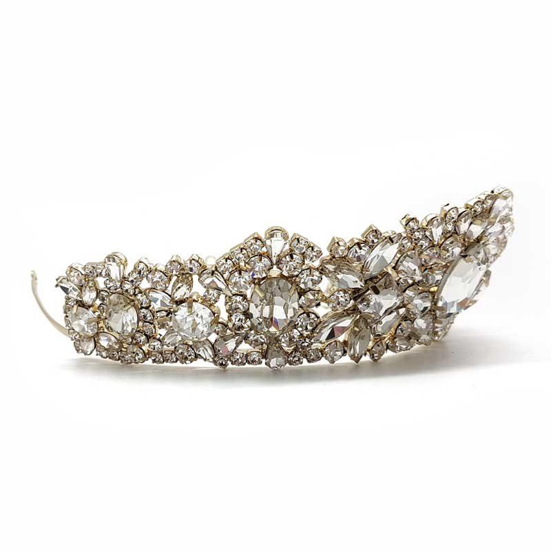 gold bridal tiara