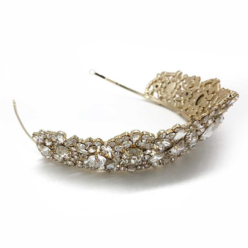 gold statement bridal crown