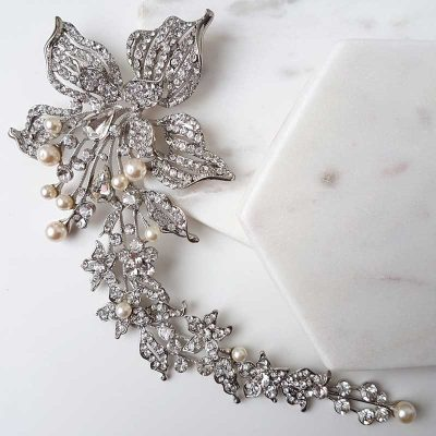 large pearl bridal hair comb