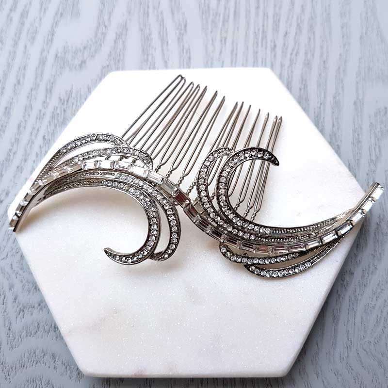vintage swirl hair comb