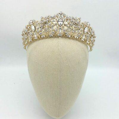 Tessa Champagne gold royal crown
