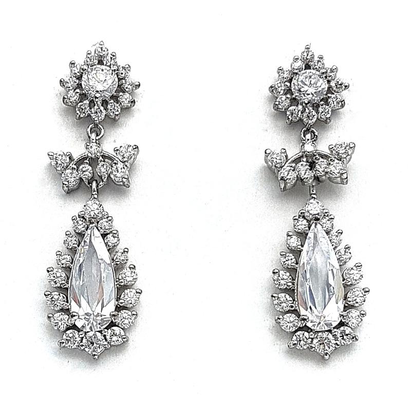 Clear Drop Earrings - TIF635WL