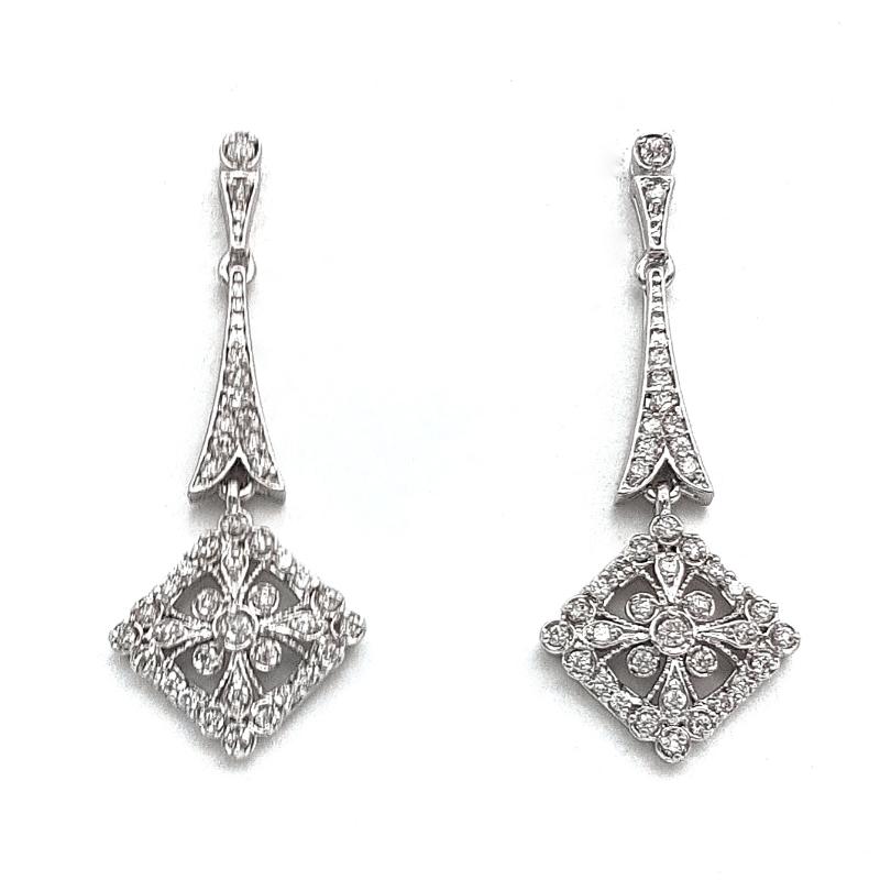 Clear Drop Earrings - TIF80WL
