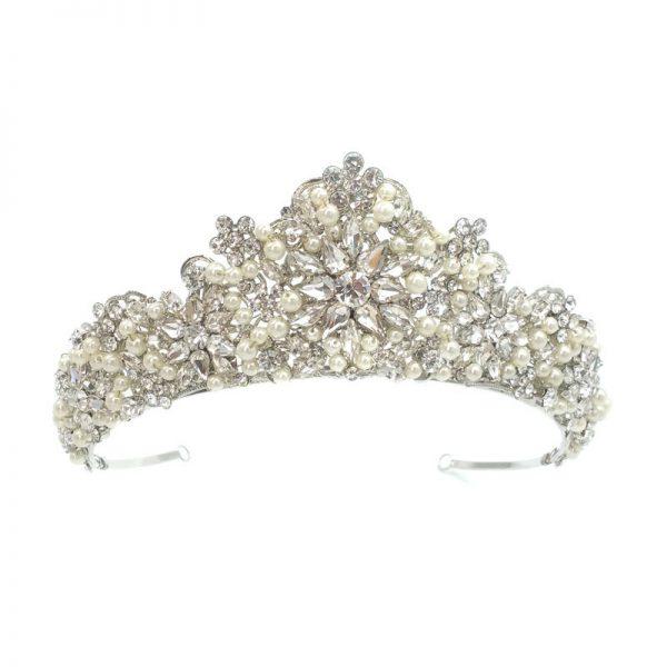 Silver Pearl Bridal Crown - Torrie