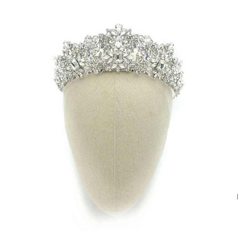 Silver Bridal Crown - Taylor