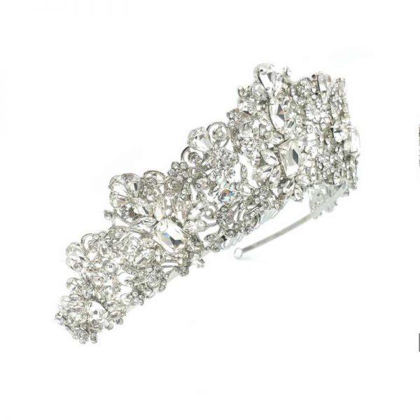 Silver wedding crown - Taylor