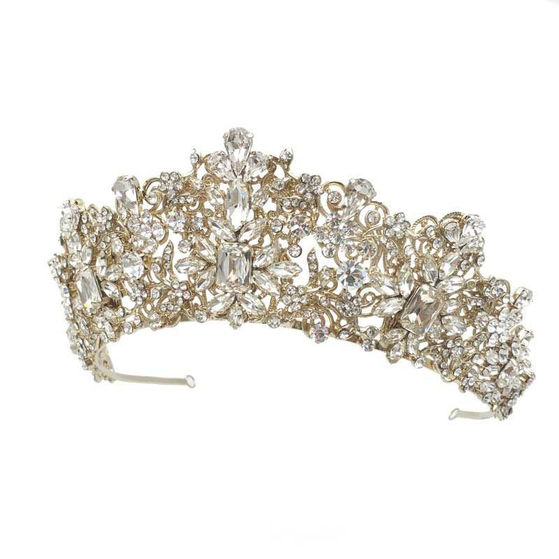 champagne gold bridal tiara