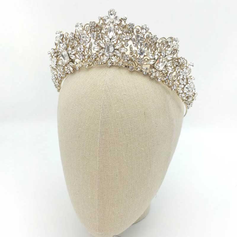 Gold bridal tiara - Taylor
