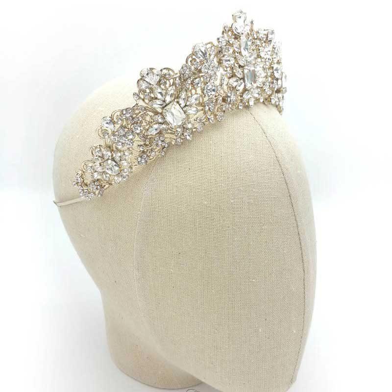 Gold wedding Crown - Taylor