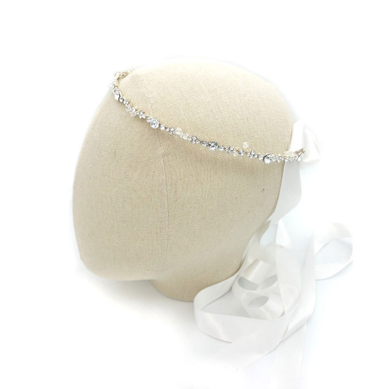 Athena - silver bridal orthodox stefanas