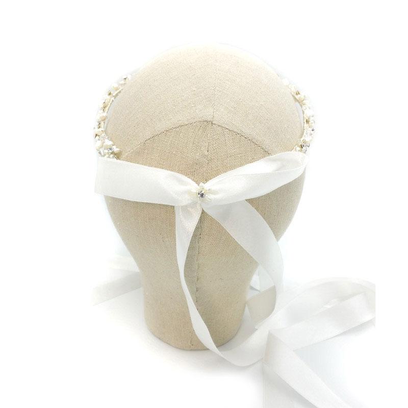 silver bridal stefana - Calista