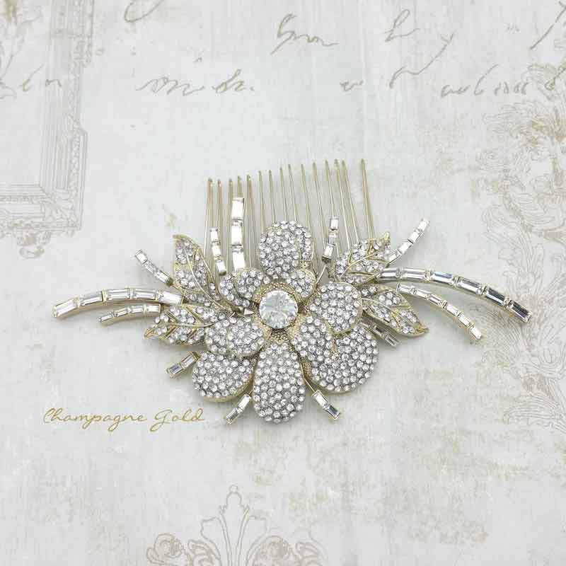 Champagne Gold Cary Hair Comb
