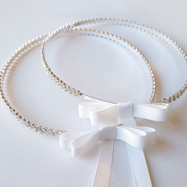 crystal silver wedding crowns - Cherish