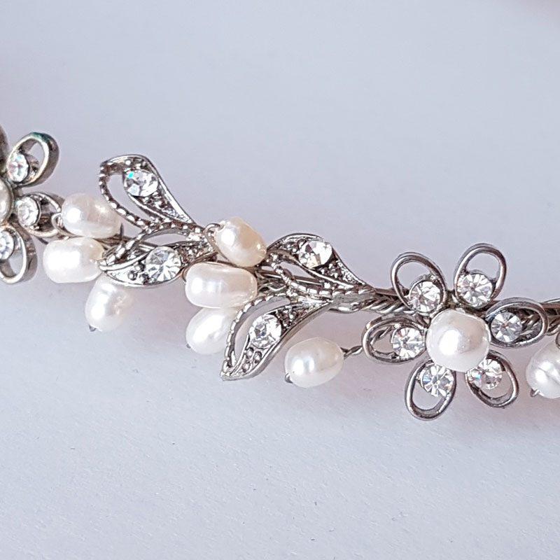 Rhodium Silver Pearl Stefanas - Eternity