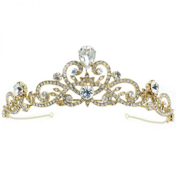 gold crown - Sudy bridal crown