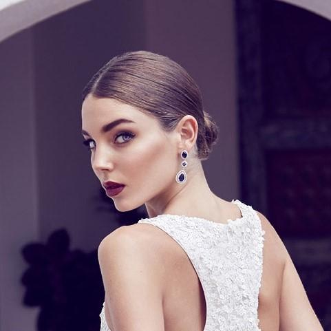 'Anita' Silver Long Drop Earrings