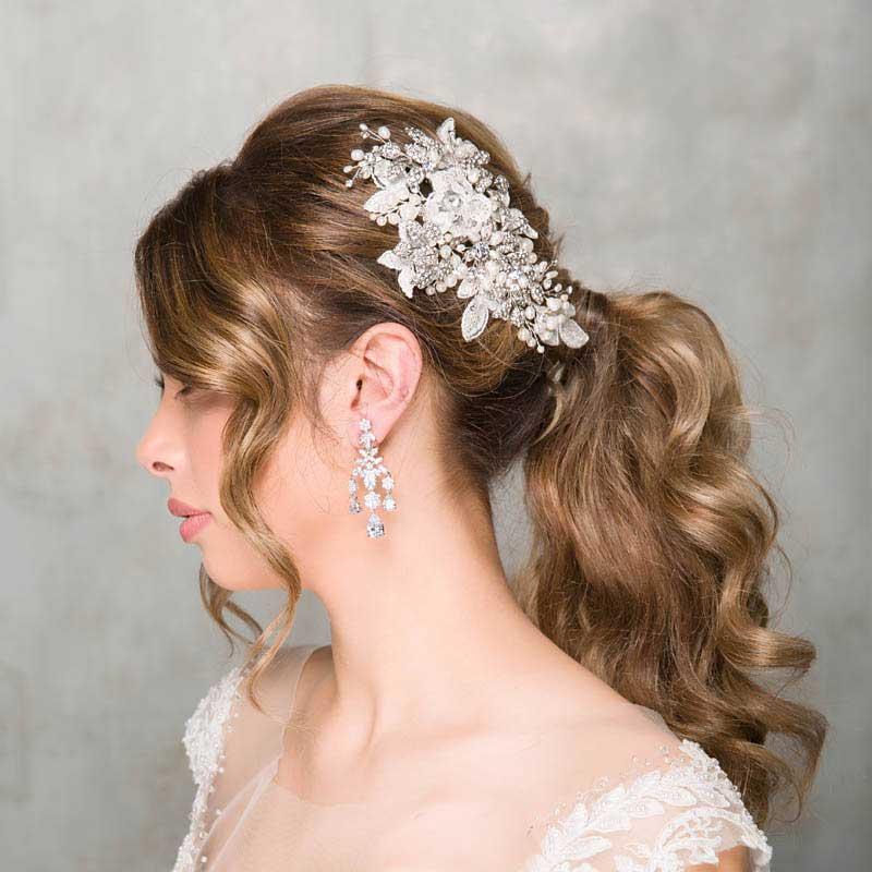 Lace Bridal Comb - Miranda