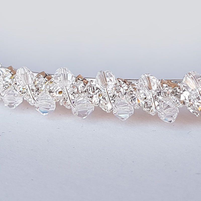 Silver crystal greek stefana wedding crowns